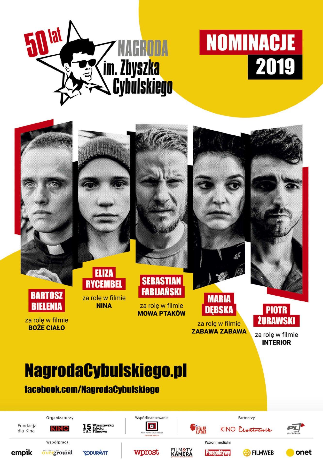 Nominacje doNagrody im.Zbyszka Cybulskiego 2019