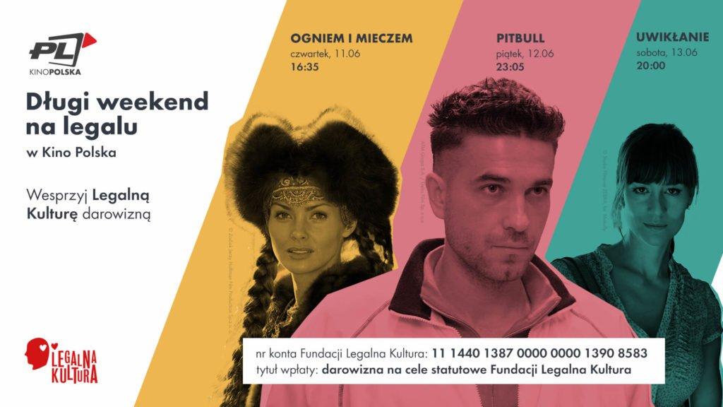 Kino Polska wspiera Fundację Legalna Kultura iprzekazuje jej część przychodów zreklam